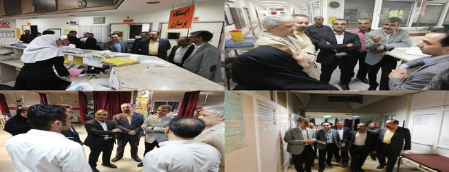 بازدید سرزده شبانه رییس دانشگاه علوم پزشکی مازندران از مرکز آموزشی درمانی امام  ( ره) ساری - ۱۳۹۸/۰۳/۲۶