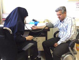 راه اندازی ایستگاه کنترل فشار خون در بیمارستان متینی