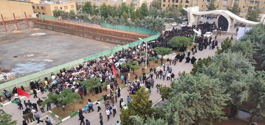 گزارش تصویری۱-مراسم تشییع و وداع با پیکر نورانی شهدای دفاع مقدس در جوار مزار شهدای گمنام دانشگاه آزاد اسلامی مشهد