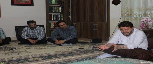 دیدار مسئولین و اساتید دانشگاه با خانواده محترم جانباز سردار سلگی