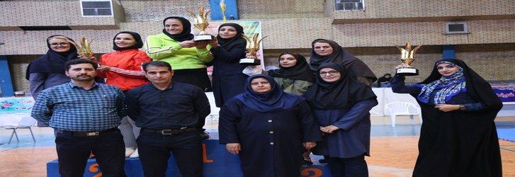 مسابقات کاراته خواهران استان به میزبانی واحد یادگار امام برگزار گردید