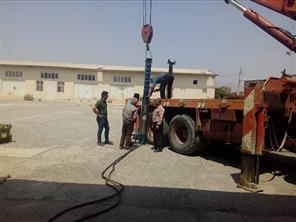 نصب و راه اندازی پمپ شناور در مرکز آموزش جهادکشاورزی حاجی آباد
