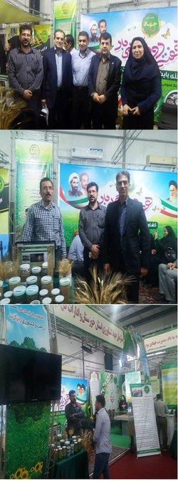 حضور مرکز تحقیقات و آموزش کشاورزی و منابع طبیعی صفی آباد در نمایشگاه هفته دولت در استان خوزستان