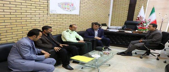 دیدار جانشین فرماندهی نیروی انتظامی شهرستان با ریاست دانشگاه دکتر حسینی