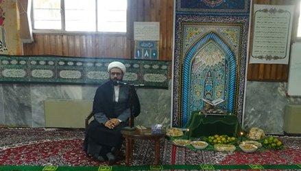 برگزاری مراسم روضه خوانی حضرت رقیه (س) درمرکز تحقیقات و آموزش کشاورزی ومنابع طبیعی استان سمنان