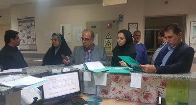 بازدید سرزده معاون درمان و تیم نظارتی دانشگاه علوم پزشکی گیلان از  بیمارستان های رودبار و منجیل