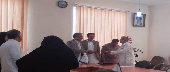 تقدیر وتشکر از زحمات مسئول  روابط عمومی مرکز تحقیقات وآموزش کشاورزی بلوچستان و معاون برنامه ریزی بعنوان رابط با فرمانداری توسط فرماندارشهرستان بمپور