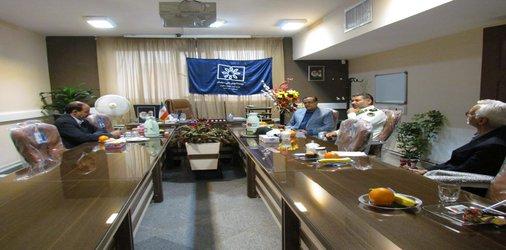 جلسه سرپرست موسسه،دکتر مهدی نوروز با رئیس نیروی انتظامی