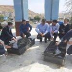 غبار روبی و زیارت مزار شهدای گمنام شهرستان گرمی