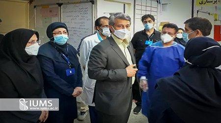بازدید رییس دانشگاه ایران از مراکز تجمیعی واکسیناسیون کرونا در شهرستان رباط کریم