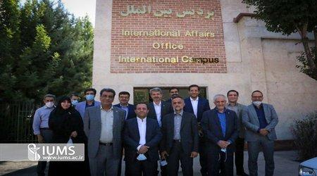 افتتاح ساختمان جدید پردیس بین الملل با حضور هیئت رئیسه دانشگاه ایران
