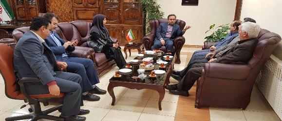 مراسم تودیع و معارفه رئیس ایستگاه تحقیقات کشاورزی لاهیجان