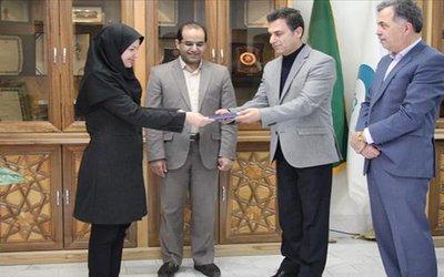 پژوهشگر برتر موسسه پژوهشی علوم و صنایع غذایی تقدیر شد