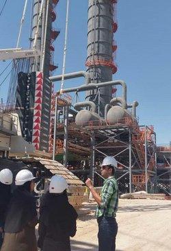 بازدید علمی دانشجویان دانشگاه فسا از منطقه ی اقتصادی انرژی پارس جنوبی