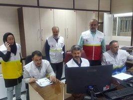 فعال سازی چارت فرماندهی عملیات EOC  با حضور سرپرست دانشگاه علوم پزشکی ایران